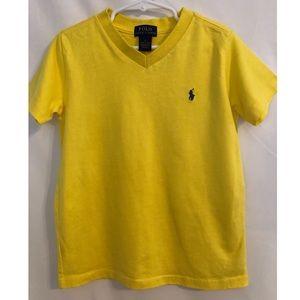 Polo Ralph Lauren yellow V neck tee NWOT 6T